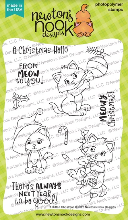 Newton's Nook Designs A KITTEN CHRISTMAS Clear Stamps NN2010S01 zoom image