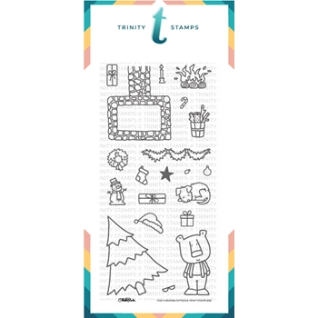 Trinity Stamps COZY CHRISTMAS COTTAGE Clear Stamp Set tps087*