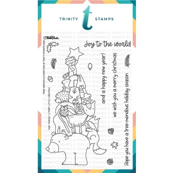 Trinity Stamps TREEMENDOUS CHRISTMAS Clear Stamp Set tps089*