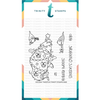Trinity Stamps HOLIDAY TWEETS Clear Stamp Set tps093