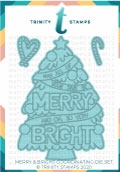 Trinity Stamps MERRY AND BRIGHT Die Set tmdc97*