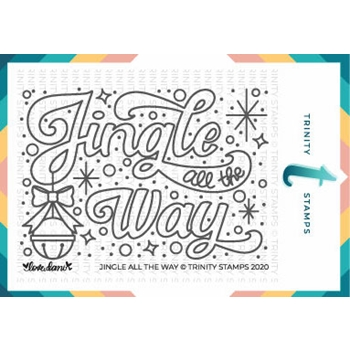 Trinity Stamps JINGLE ALL THE WAY Clear Stamp Set tps099*