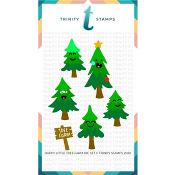 Trinity Stamps HAPPY LITTLE TREE FARM Die Set tmd043