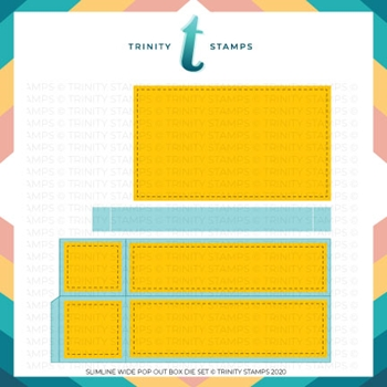 Trinity Stamps SLIMLINE WIDE BOX CARD Die Set tmd054
