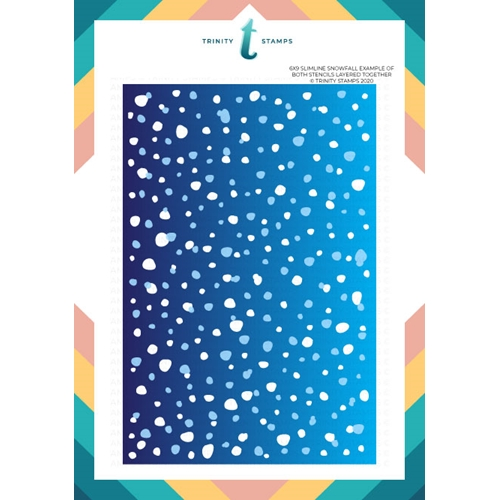 Trinity Stamps SLIMLINE SNOWFALL 6 x 9 Layering Stencil Set Of 2 tss028 Preview Image