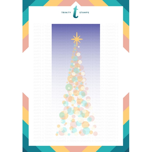Trinity Stamps SLIMLINE TREE OF LIGHTS 6 x 9 Layering Stencil Set Of 2 tss029 Preview Image