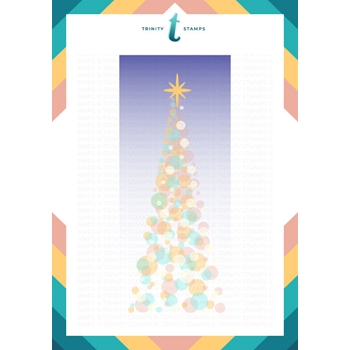 Trinity Stamps SLIMLINE TREE OF LIGHTS 6 x 9 Layering Stencil Set Of 2 tss029
