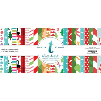 Trinity Stamps SLIMLINE SERIES HOLIDAY TRIMMINGS Paper Pad tspp03