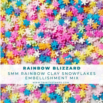 Trinity Stamps RAINBOW BLIZZARD Embellishment Box tsb150