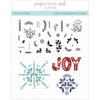 Ink to Paper FOLKY HOLIDAY Clear Stamps 1218*