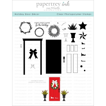 Ink to Paper HOLIDAY DOOR DECOR Clear Stamps 1213