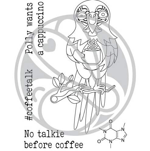 The Rabbit Hole Designs CAFFEINATED PARROT TRH 84* Preview Image
