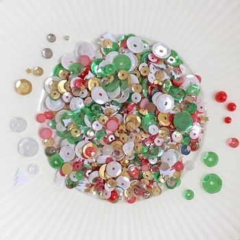 Little Things From Lucy's Cards CHRISTMAS PARTY Sequin Shaker Mix LB350