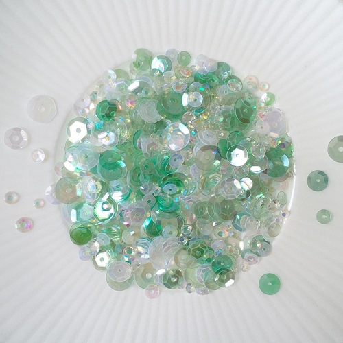 Little Things From Lucy's Cards COOL MINT Sequin Shaker Mix LBSM64 Preview Image
