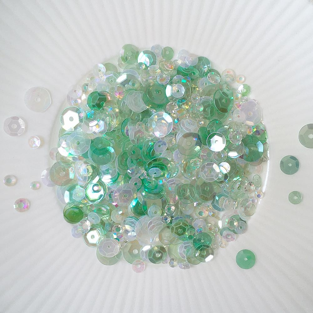 Little Things From Lucy's Cards COOL MINT Sequin Shaker Mix LBSM64 zoom image