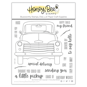 Honey Bee BIG PICKUP CAB Clear Stamp Set hbst283