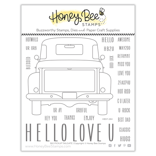 Honey Bee BIG PICKUP TAILGATE Clear Stamp Set hbst284 Preview Image