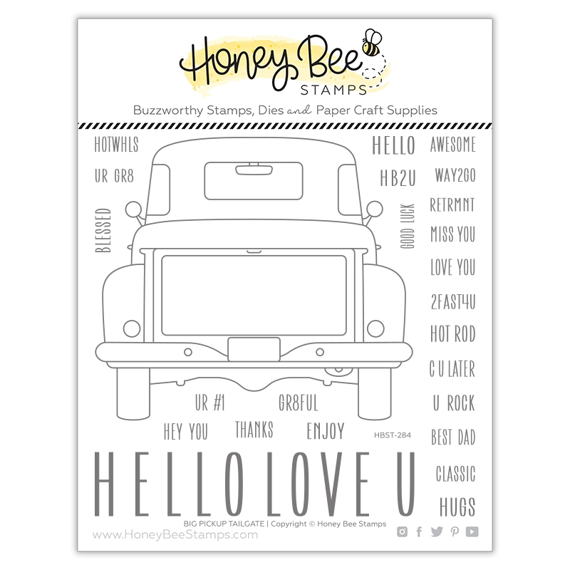 Honey Bee BIG PICKUP TAILGATE Clear Stamp Set hbst284 zoom image