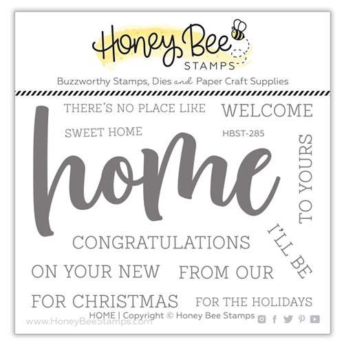 Honey Bee HOME BUZZWORD Clear Stamp Set hbst285 Preview Image