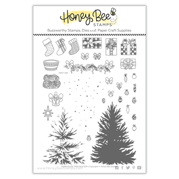 Honey Bee FARMHOUSE TREE BUILDER Clear Stamp Set hbst290