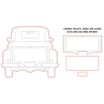 Honey Bee BIG PICKUP TAILGATE Dies hbds284