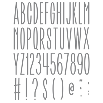 Honey Bee BEE NARROW UPPERCASE ALPHA Dies hbdsbnua