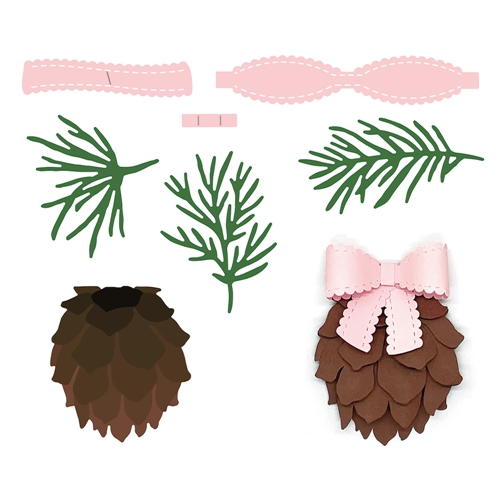 Honey Bee LOVELY LAYERS PINECONE Dies hbdsllpc Preview Image