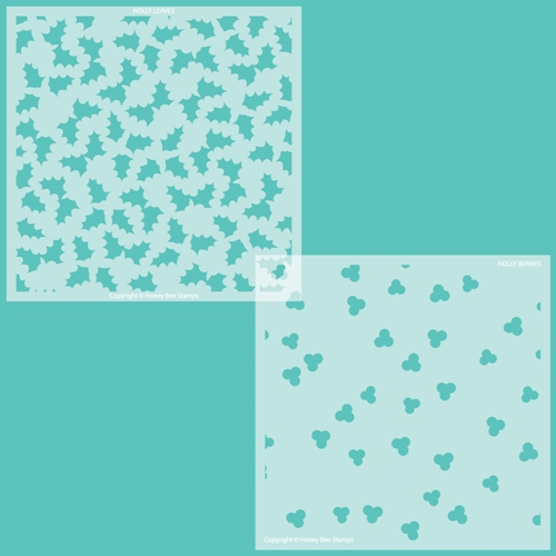 Honey Bee HOLLY AND BERRIES Set of 2 Stencils hbsl074 Preview Image