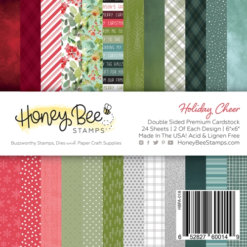 Honey Bee HOLIDAY CHEER 6 x 6 Paper Pad hbpa018 Preview Image