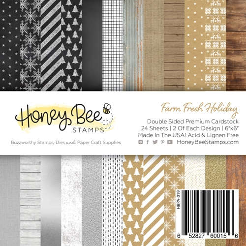Honey Bee FARM FRESH HOLIDAY 6 x 6 Paper Pad hbpa019 Preview Image