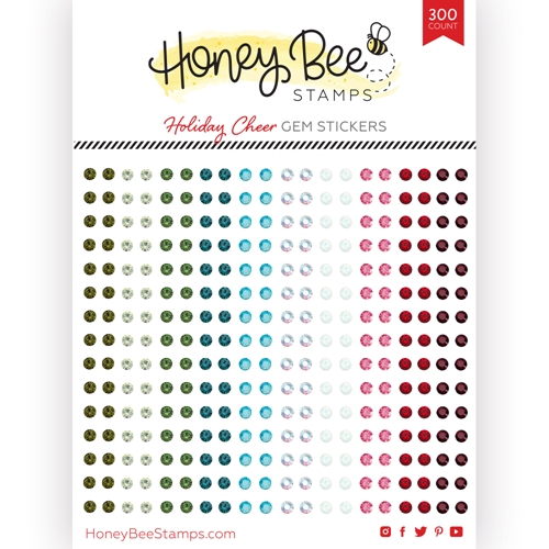 Honey Bee HOLIDAY CHEER Gem Stickers hbgs019 Preview Image