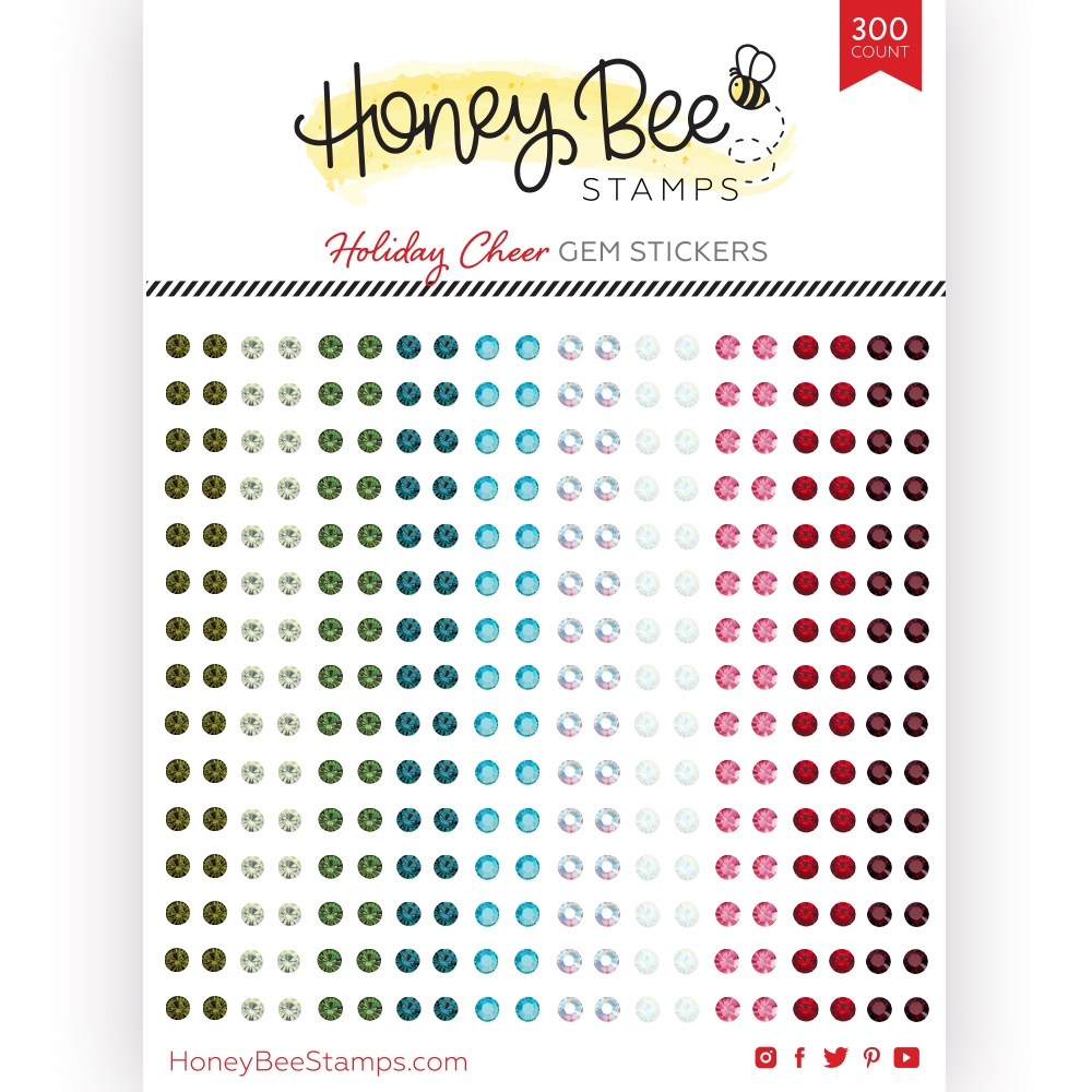 Honey Bee HOLIDAY CHEER Gem Stickers hbgs019 zoom image