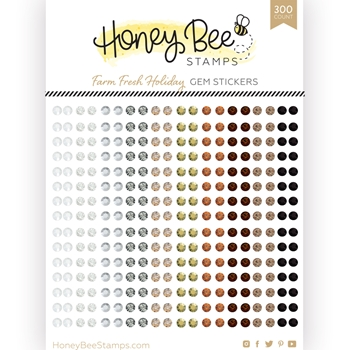 Honey Bee FARM FRESH HOLIDAY Gem Stickers hbgs020