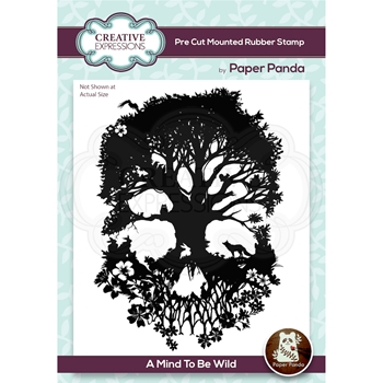 Creative Expressions A MIND TO BE WILD Cling Stamp cerpp002