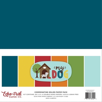 Echo Park MY DOG 12 x 12 Solids Paper Pack md226015