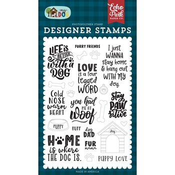 Echo Park FURRY FRIENDS Clear Stamps md226040
