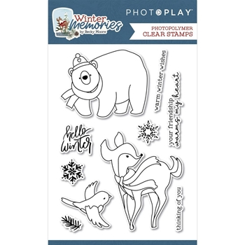 PhotoPlay WINTER MEMORIES Clear Stamps wnt2474*