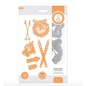 Tonic WREATH AND SKATES Die Set 3576e
