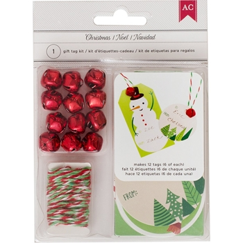 American Crafts CHRISTMAS Gift Tag Kit 375084