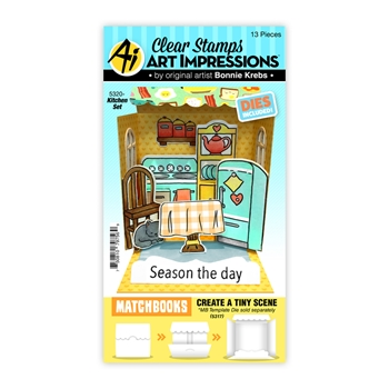 Art Impressions MATCHBOOK KITCHEN Clear Stamps and Dies 5320