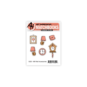 Art Impressions MATCHBOOK WALL ACCESSORIES Clear Stamps and Dies 5323