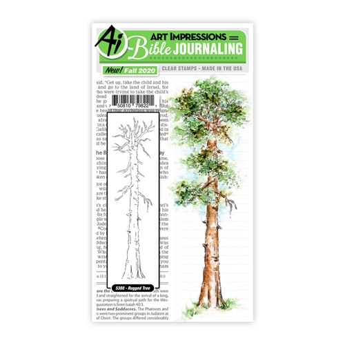 Art Impressions Watercolor RUGGED TREE Clear Stamps Bible Journaling 5388 Preview Image