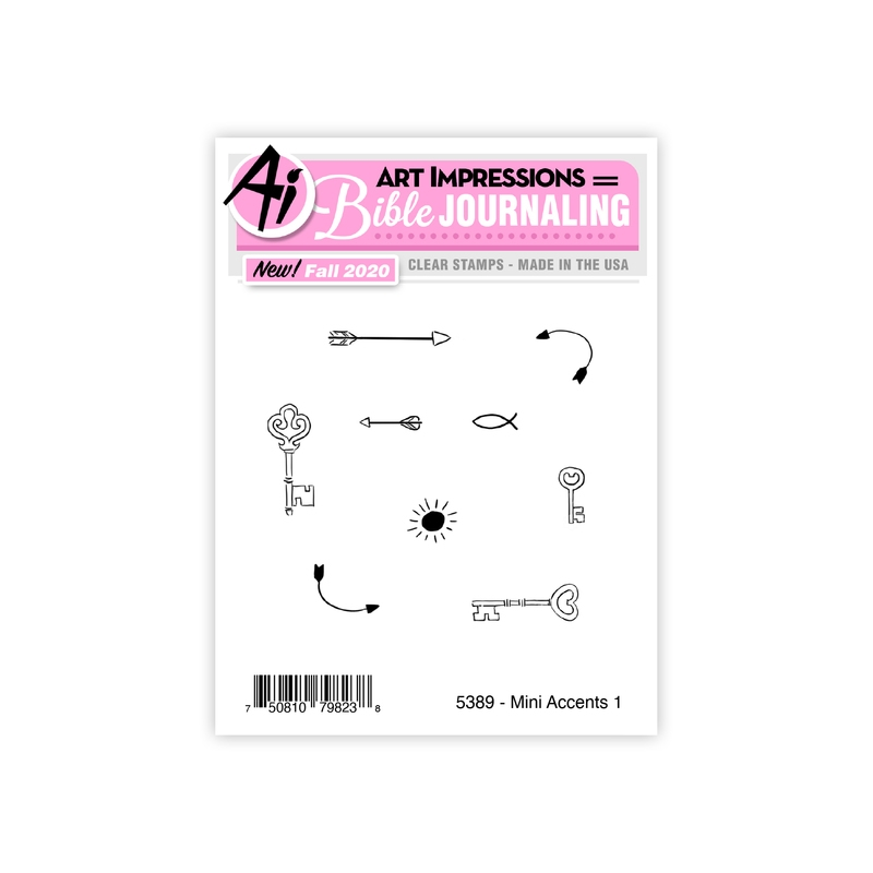 Art Impressions MINI ACCENTS 1 Clear Stamps Bible Journaling 5389 zoom image