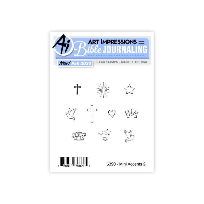 Art Impressions MINI ACCENTS 2 Clear Stamps Bible Journaling 5390 zoom image