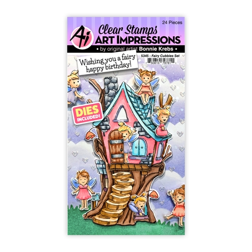 Art Impressions FAIRY CUBBIES Clear Stamps and Dies 5345 Preview Image