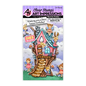 Art Impressions FAIRY CUBBIES Clear Stamps and Dies 5345