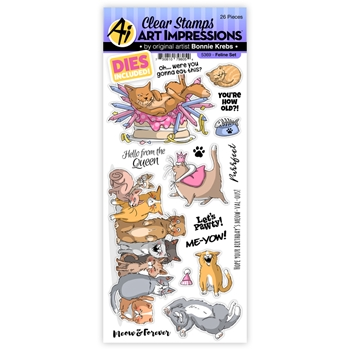 Art Impressions FELINE Clear Stamps and Dies 5369