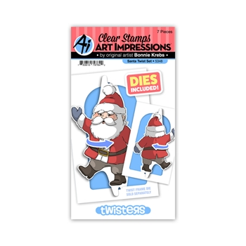 Art Impressions SANTA TWISTER Clear Stamps and Dies 5348