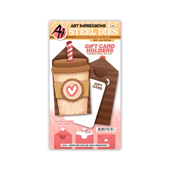 Art Impressions JAVA GIFT CARD HOLDER Die Set 5343