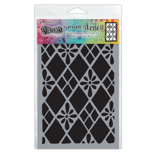 Dyan Reaveley Stencil 5 x 8 DIAMONDS ARE FOREVER Dylusions Ranger dys75295 Preview Image